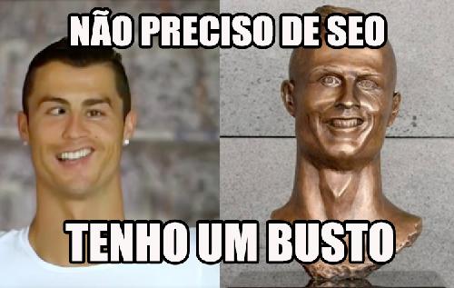 busto do cristiano ronaldo no marketing
