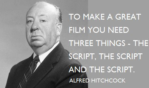 hitchcock quote script writing